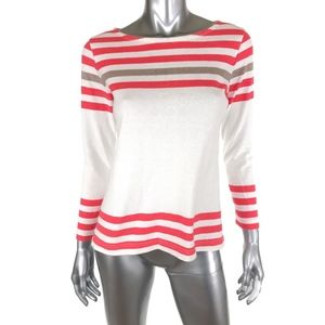 J Crew XS Sailor Tee In Engineered Stripe White